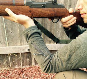 M1 Garand shot without sling