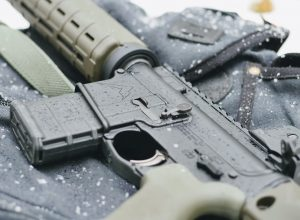 AR-15 in on a snowy day
