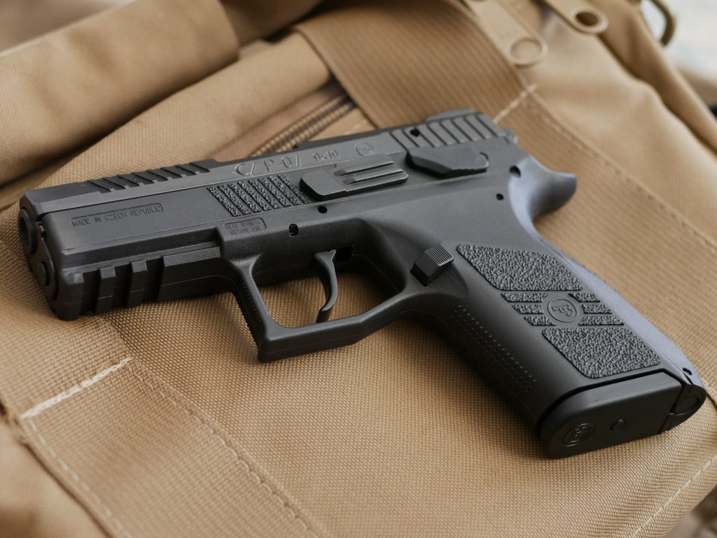 The Marksman's CZ P07 used for the double action test