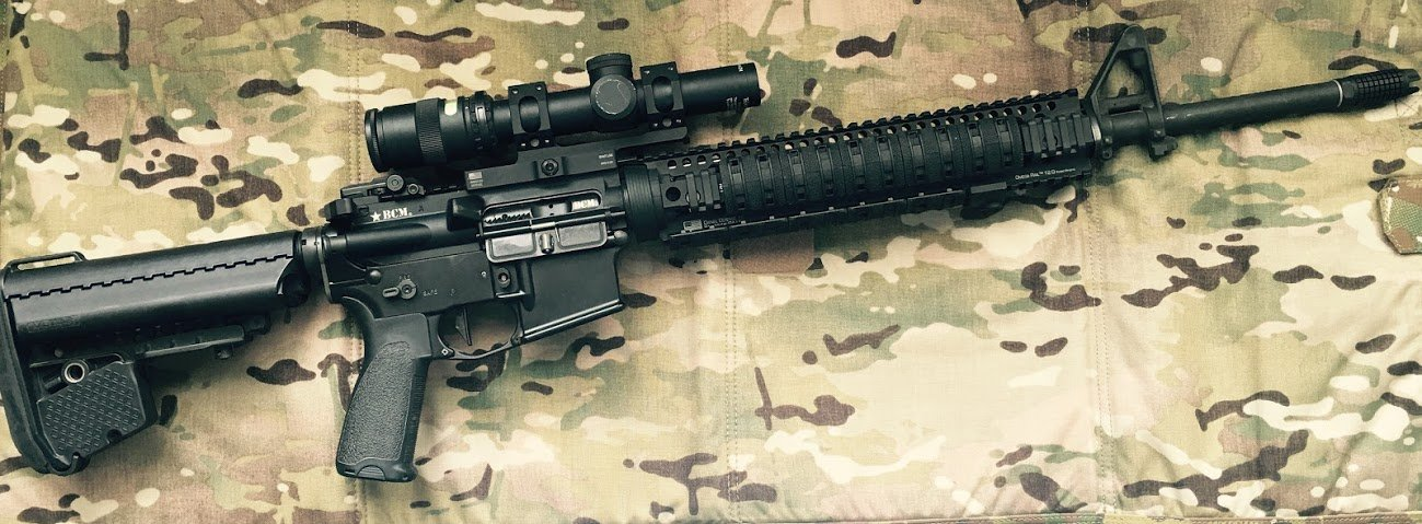 "20"" BCM rifle with VLTOR A5 kit and Trijicon TR24"