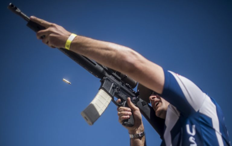 USAF shooting team member using the C-Clamp grip