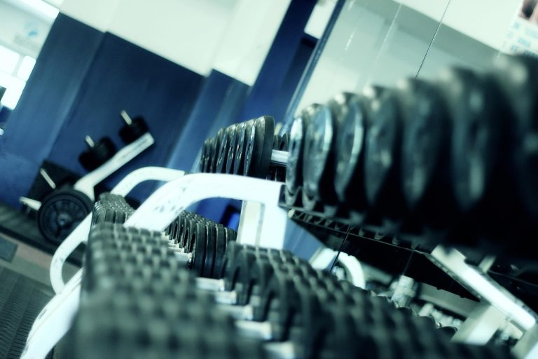 A rack of dumbbells, key to tactical fitness