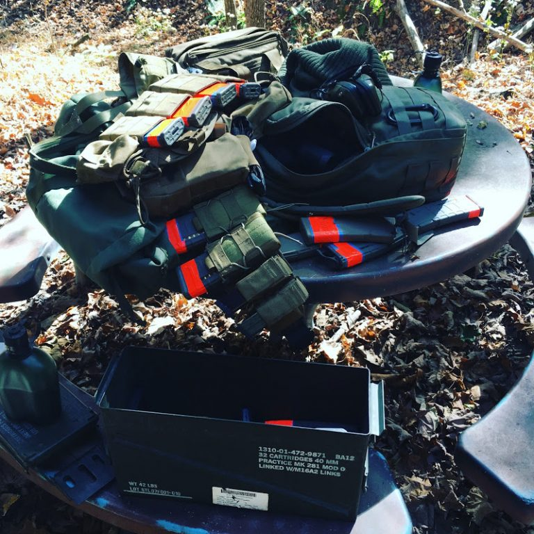 Gear bomb at MVT tactical training with a GoRuck GR1