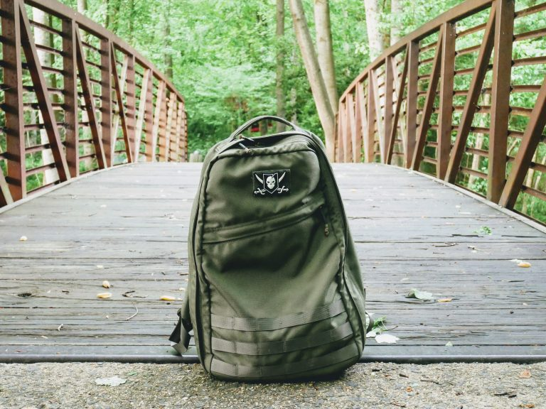 GoRuck GR1 on a bridge