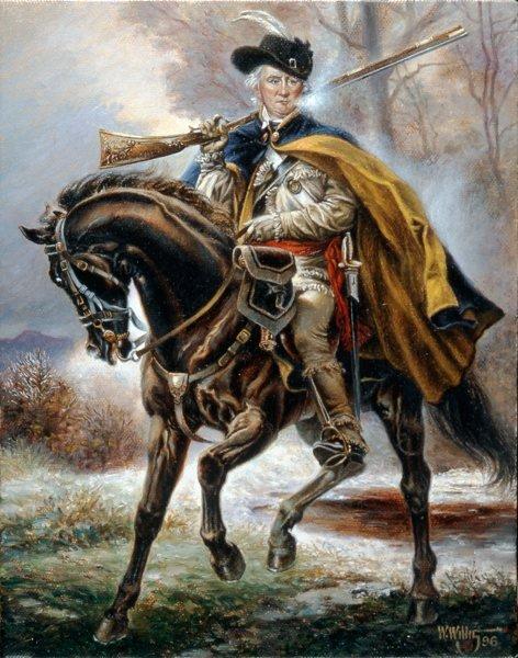 Daniel Morgan atop his horse