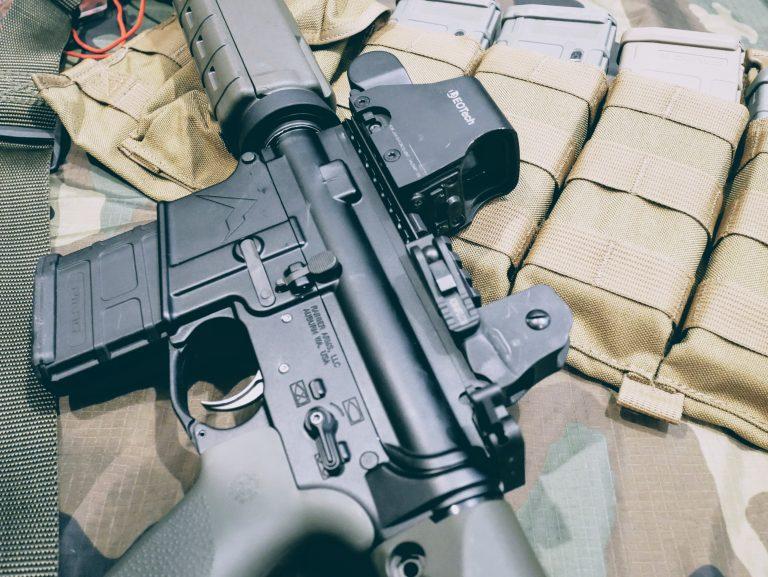 AR-15 optic display of EOtech XPS2