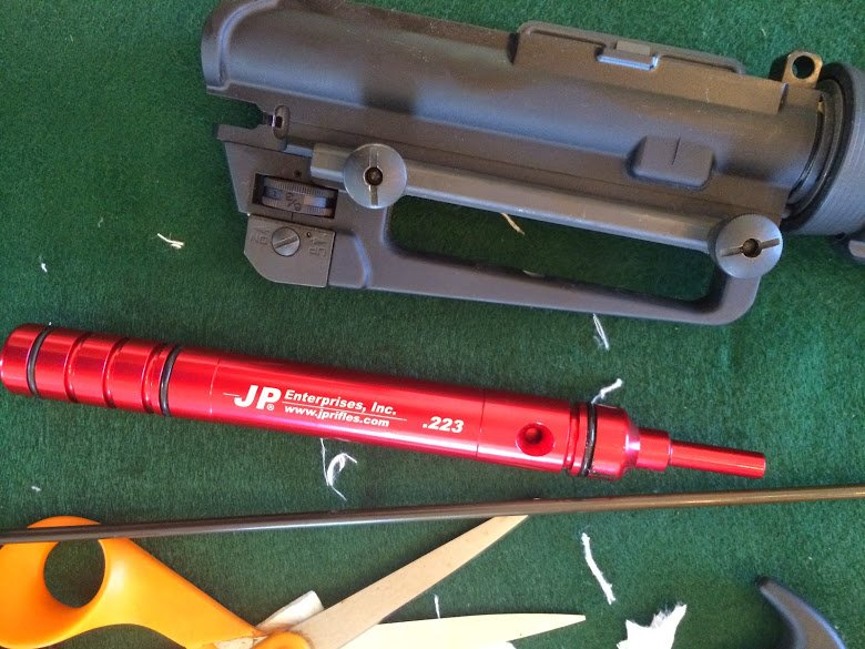 JP bore guide next to ar-15 receiver