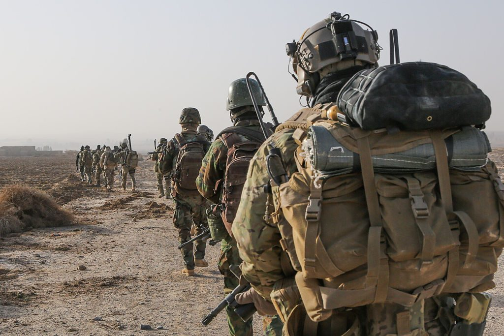 US SOF troops with modern ALICE ruck