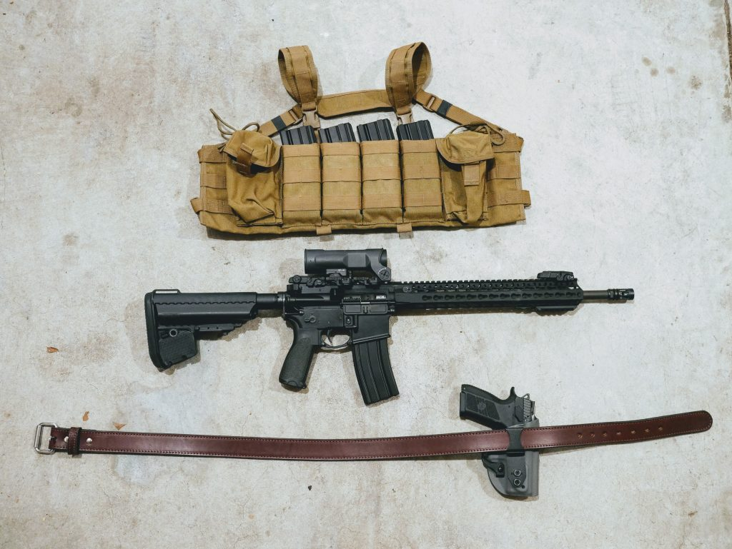 MVT chest rig and concealed carry belt with AR-15
