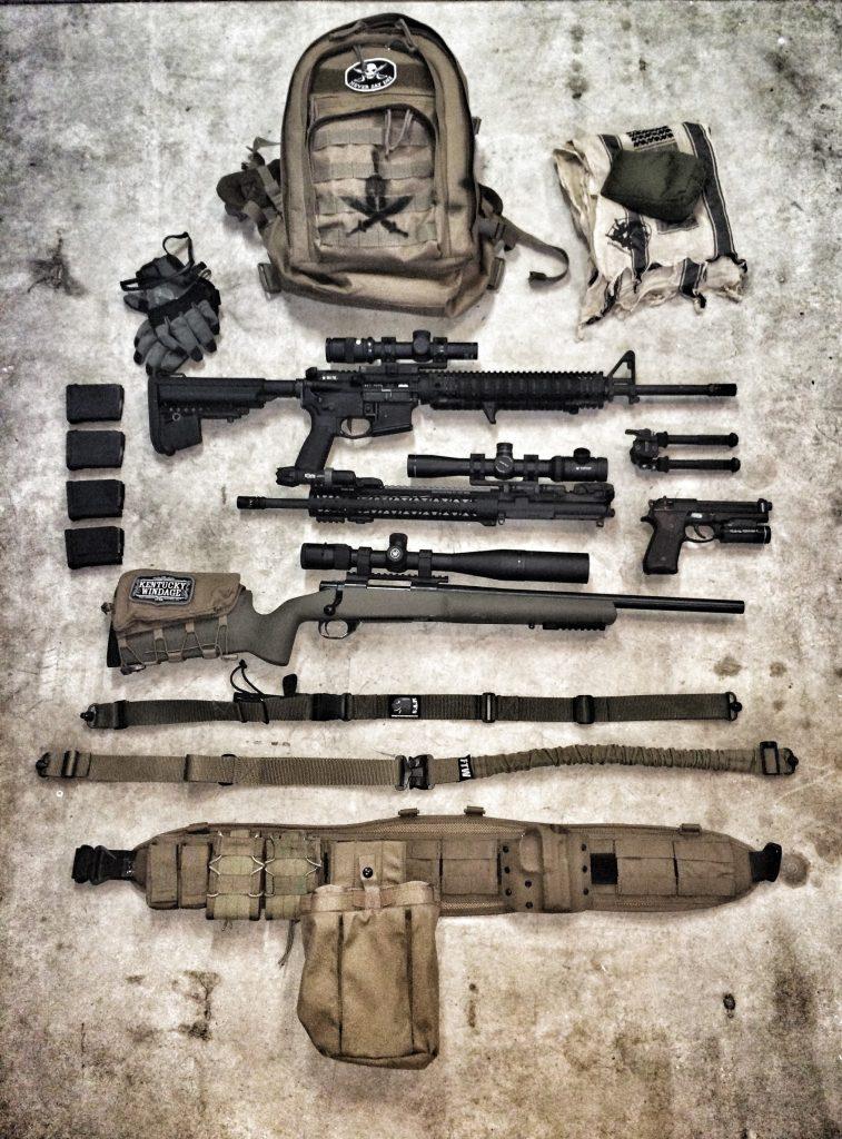 Old gear setup, including battle belt