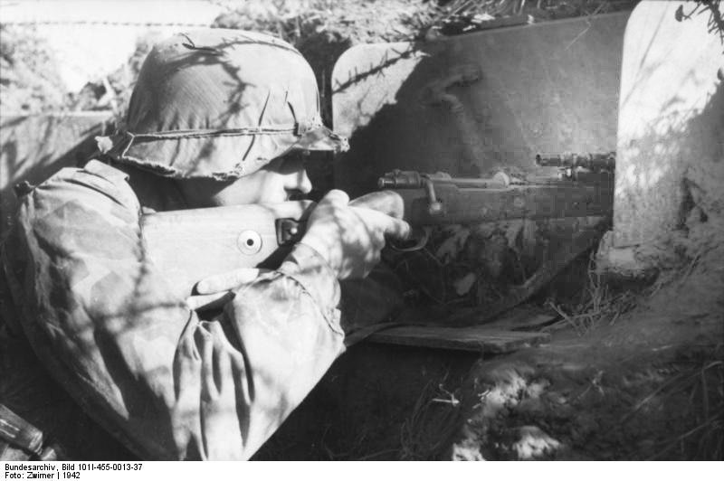 German WWII soldier K98 ZF4