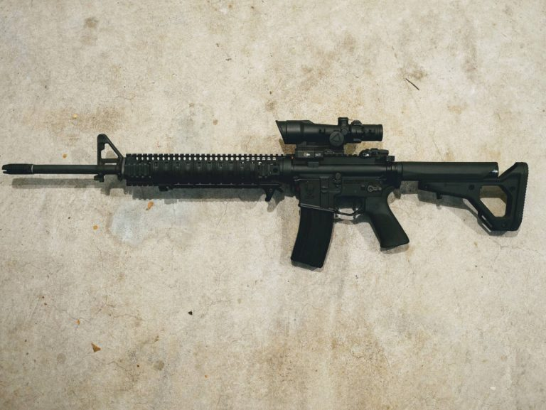 "M16A5 configuration using BCM 20"" government upper"