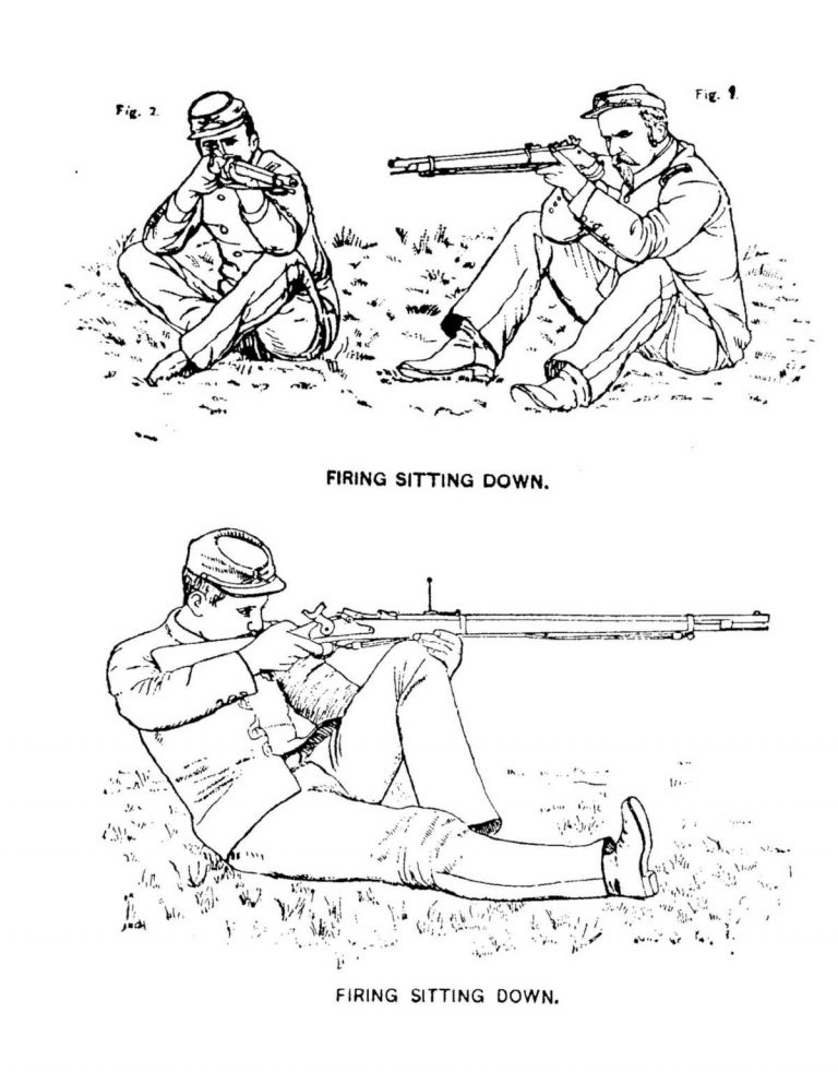 1889 Army Firing Regulations by Stanhope Blunt Sitting Position