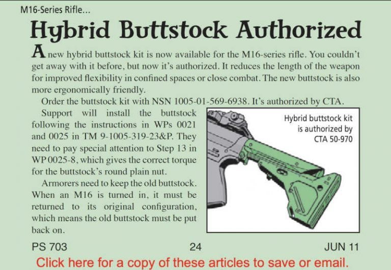M16 H6 Buffer hybrid buttstock authorization